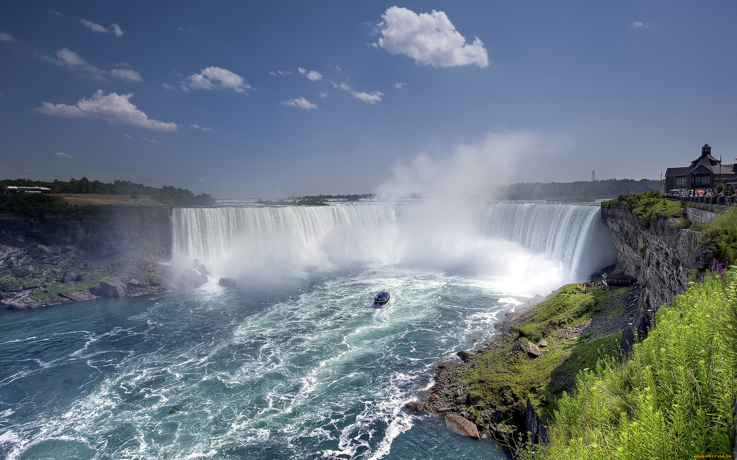 Ниагарский водопад где находится фото